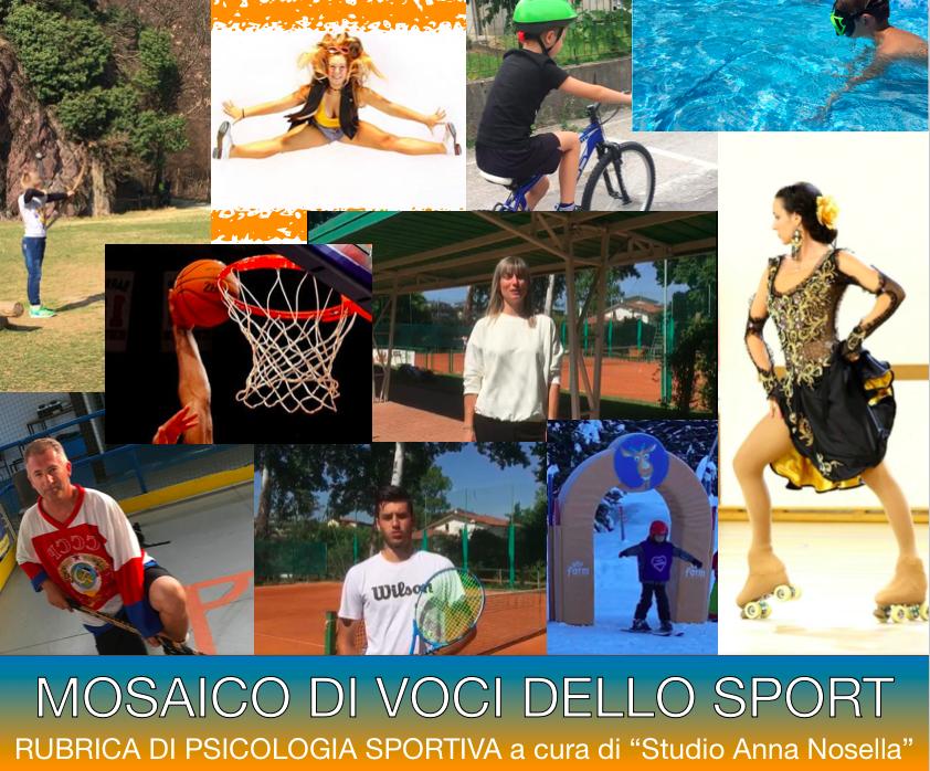 mosaico di voci dello sport