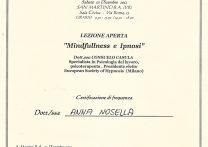 ATTESTATO mindfulness e ipnosi