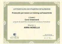 attestato training assertività